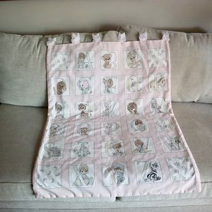 Precious Moments Other - Vintage handmade alphabet hanging quilt
